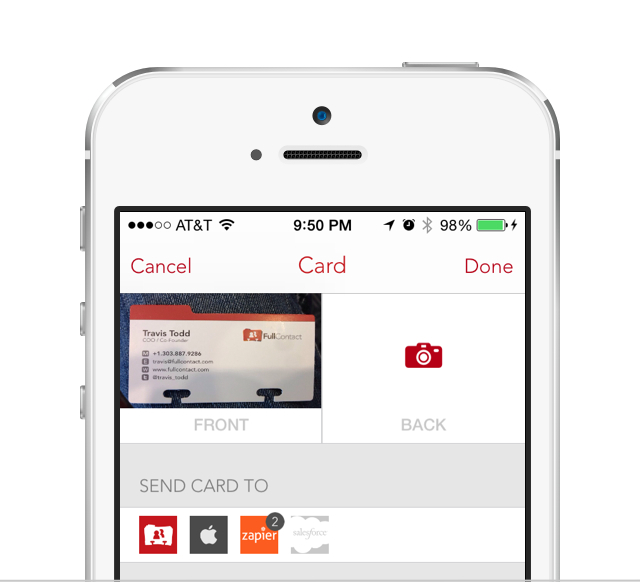 Scan Business Cards Into All Your Apps with FullContact